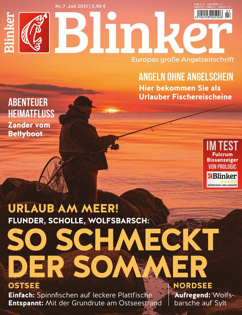 Meeresangeln pur im neuen BLINKER 07/2021 – ab dem 8. Juni am Kiosk und schon jetzt bei uns im Shop! (Nord-Titel) Bild: BLINKER
