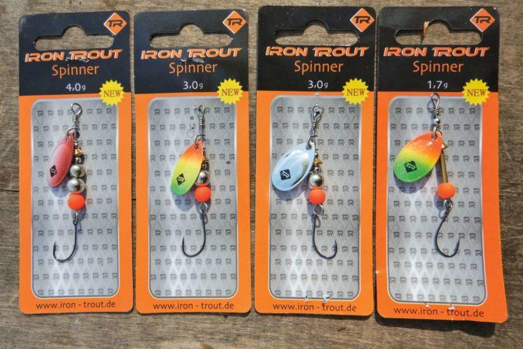 Das Set für die Testangler: Spinner von Iron Trout Das Set enthält 4 Forellenspinner mit Einzelhaken Gewicht: 1,7 g, 3 g (2 Stück) und 4 g.