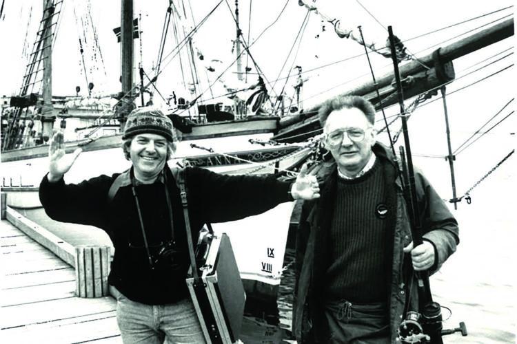 Kein Ziel war ihnen zu weit: Carl-Werner Schmidt-Luchs (links) und BLINKER-Chefredakteur Karl Koch, Anfang der 80er-Jahre. Foto: Archiv