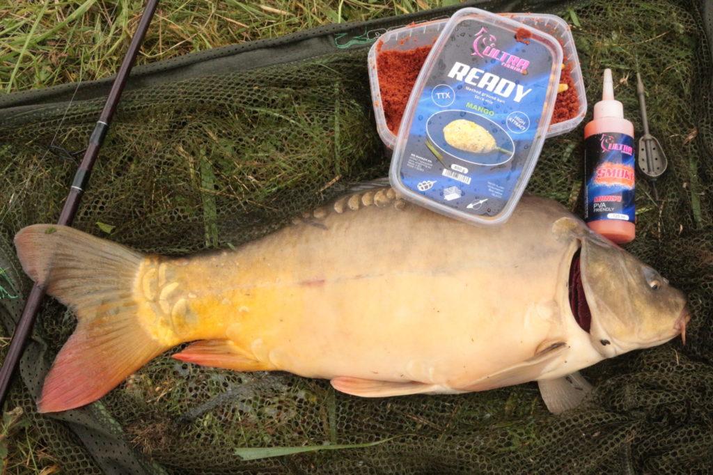 Zum Karpfenangeln nutzt André derzeit einen Mango-Mix von Ultra Fishing. Ob er ihm auch diesmal gute Dienste leisten wird? Foto: A. Pawlitzki