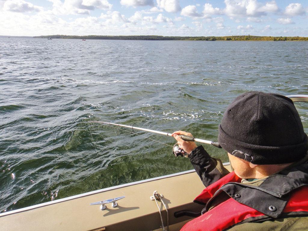 Wenn die Fische beim Vertikalangeln sehr tief stehen, sollten Sie sich immer im Klaren sein, dass die Tiere beim Hochkurbeln durch den starken Druckabfall Schaden nehmen!