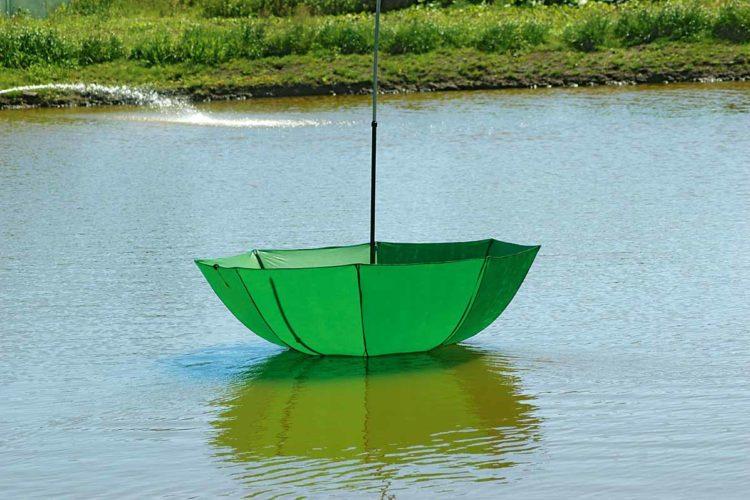 Keine lustige Bootsfahrt: Dieser Schirm war nicht gut genug gesichert und ist schwimmen gegangen ... Foto: AngelWoche / H. Jagusch